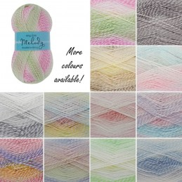 King Cole Melody DK Double Knitting Yarn Knit Craft Wool Crochet 100g Ball