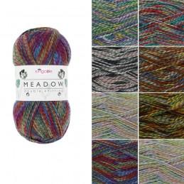 King Cole Meadow DK Double Knitting Yarn Knit Craft Wool Crochet 100g Ball
