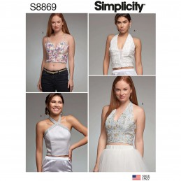 Simplicity Sewing Pattern 8869 Misses Special Occasion Lined Fitted Tops