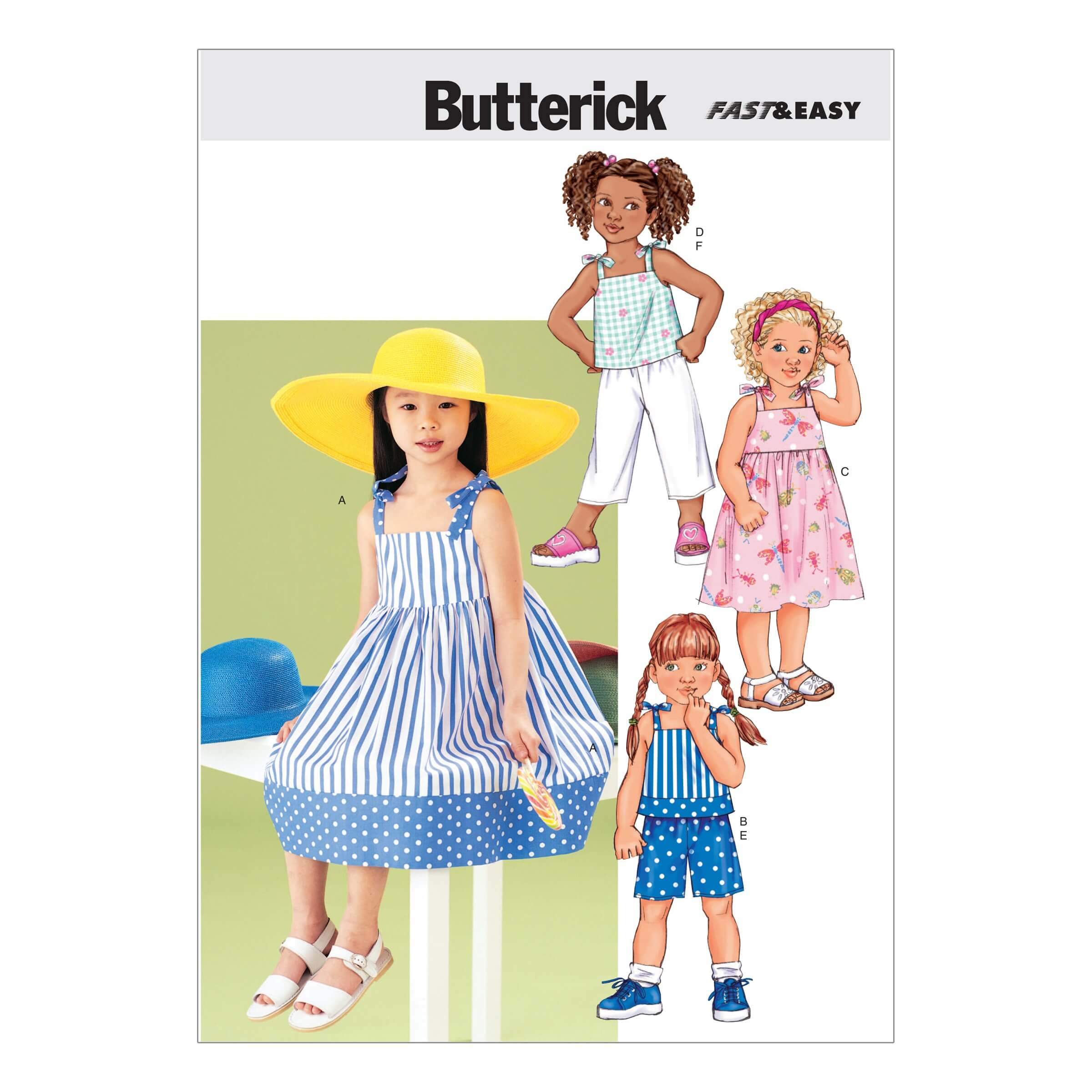 Butterick Sewing Pattern 3477 Childrens Sleeveless Dress Top Trouers