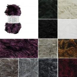 King Cole Luxury Fur Super Chunky Knitting Yarn Knit Wool Crochet 100g Ball