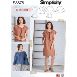 Simplicity Sewing Pattern 8878 Misses The Simple Shift Dress and Pullover