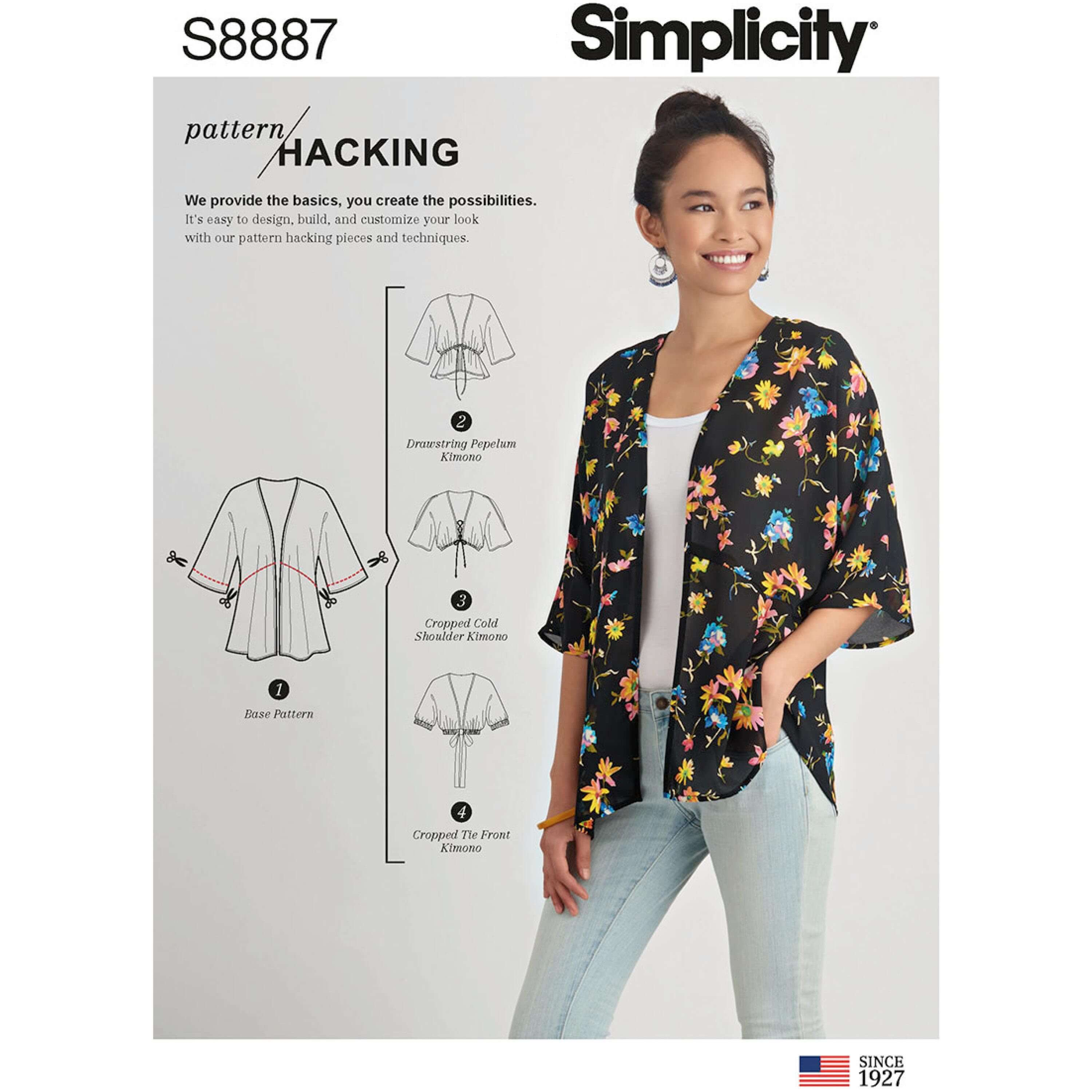 Simplicity Sewing Pattern 8887 Misses Kimono Jacket with Hack Options
