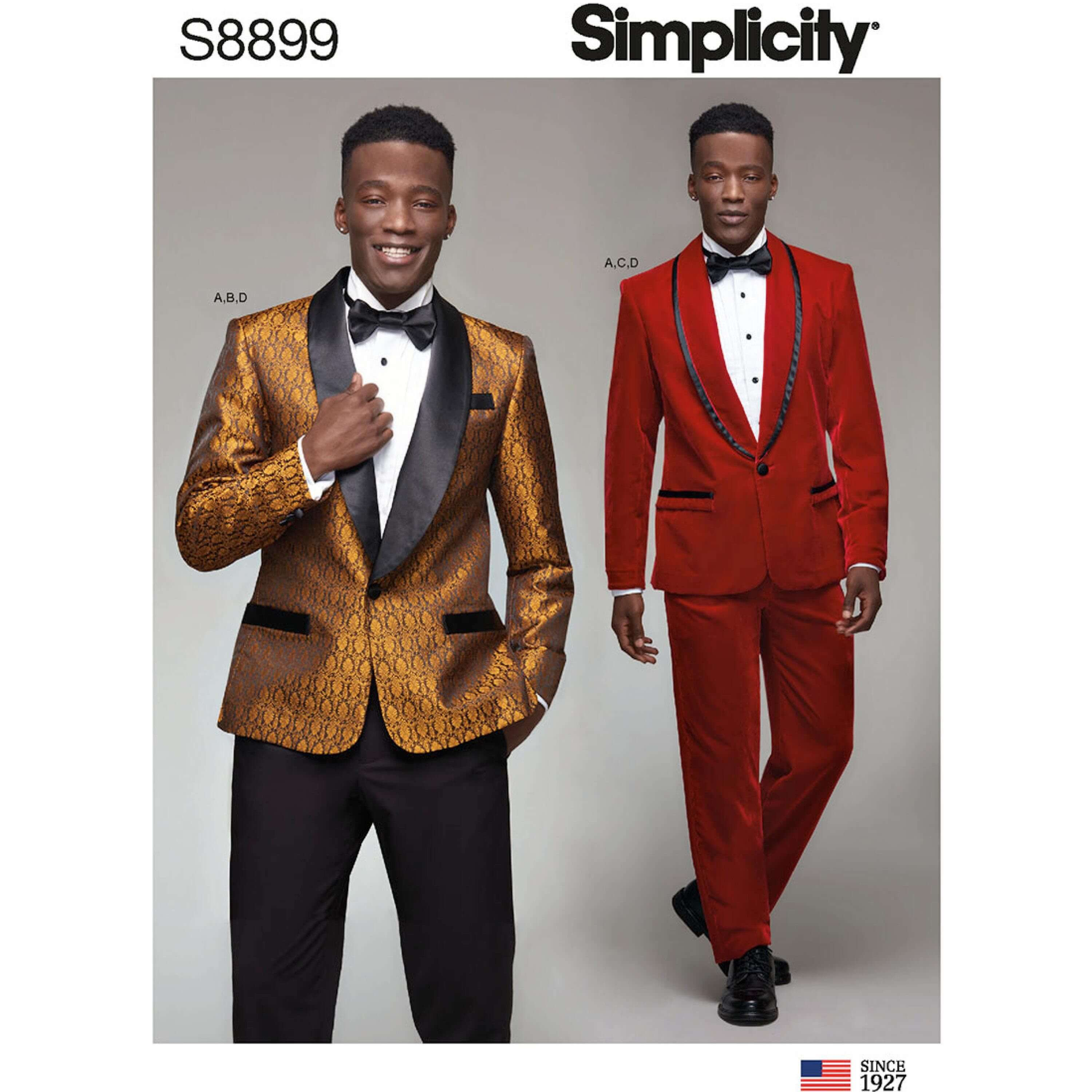 Simplicity Sewing Pattern 8899 Men's Special Occasion Tuxedo Suits