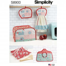 Simplicity Sewing Pattern 8900 Kitchen Accessories Toaster Cover Pot Holder