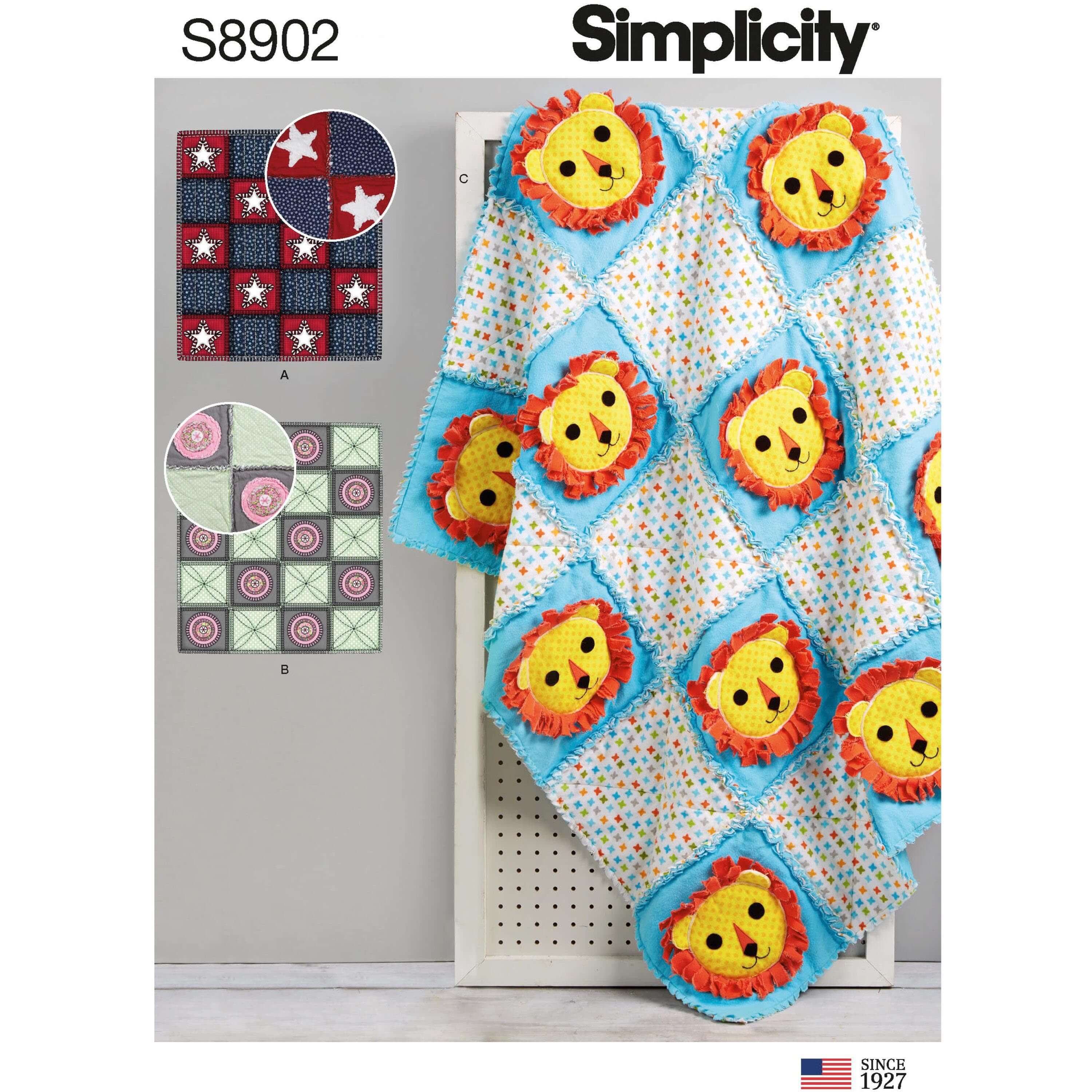 Simplicity Sewing Pattern 8902 Home Accessories Rag Quilts