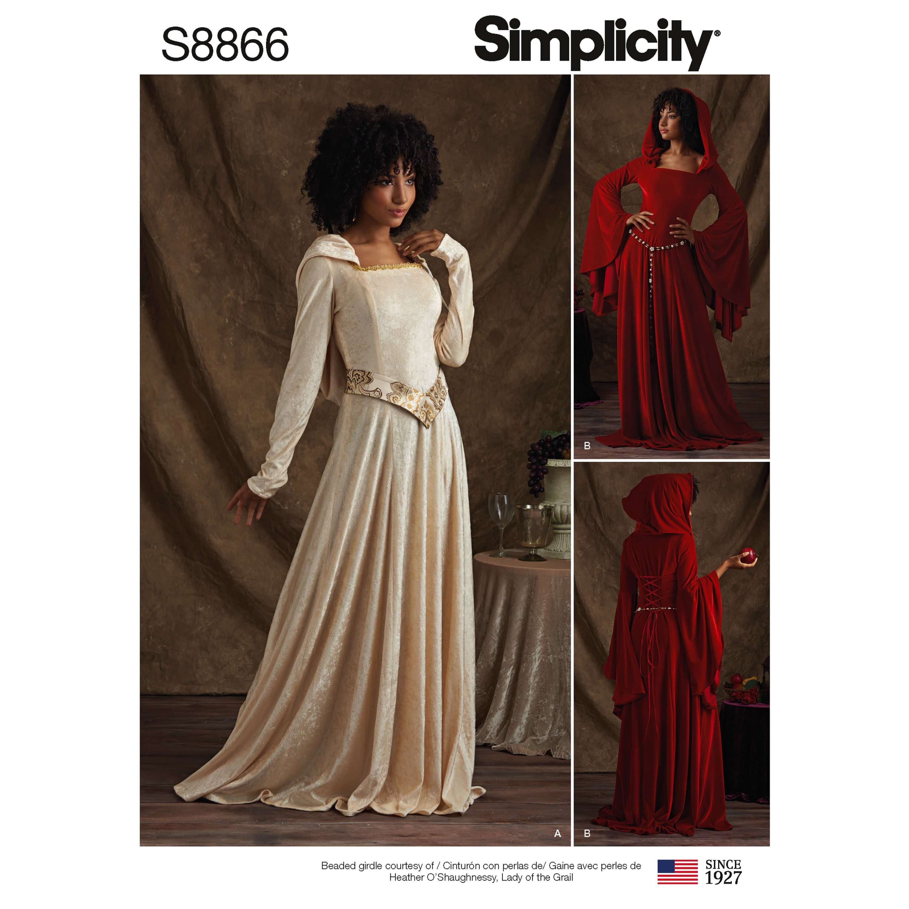 Simplicity Sewing Pattern 8866 Misses Cosplay Knit Costume Dresses
