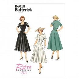 Butterick Sewing Pattern 6018 Women's Outdoor Evening Dress Flared Skirt