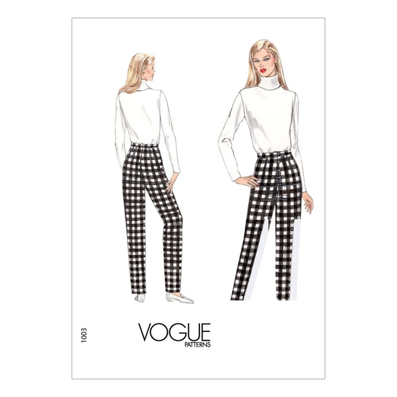 Vogue Sewing Pattern V1003 Women's Slim Fit Trousers Fitting Shell