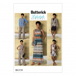 Butterick Sewing Pattern 6330 Women's Jacket Dress & Jumpsuit