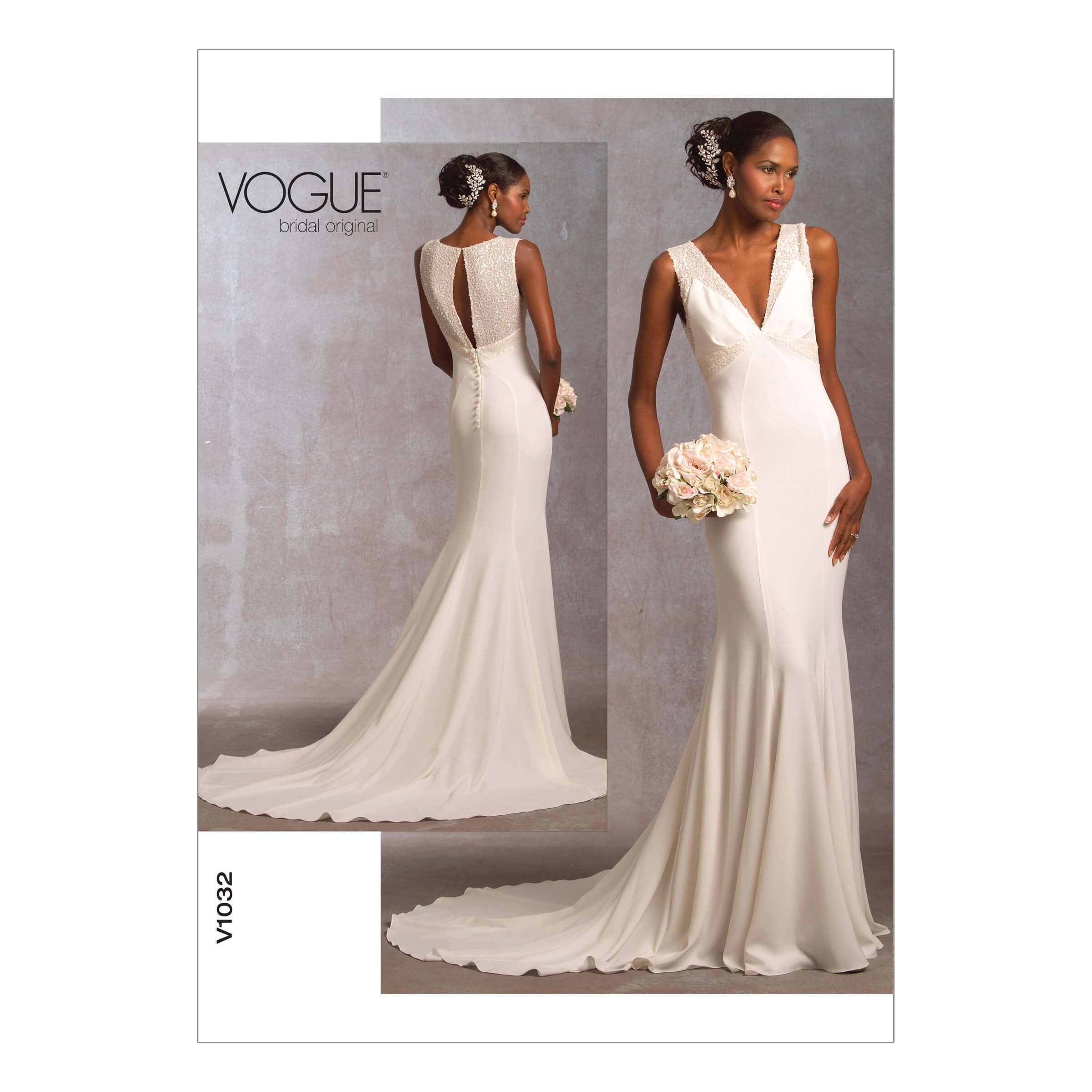 Vogue Sewing Pattern V1032 Women's Special Occasion Dress with Train