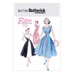 Butterick Sewing Pattern 4790 Women's Retro Wrap Dress
