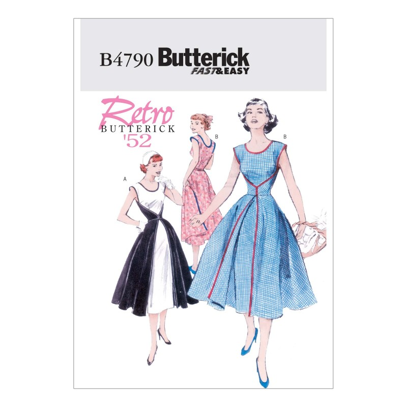 Butterick Sewing Pattern 4790 Women's Retro Wrap Dress