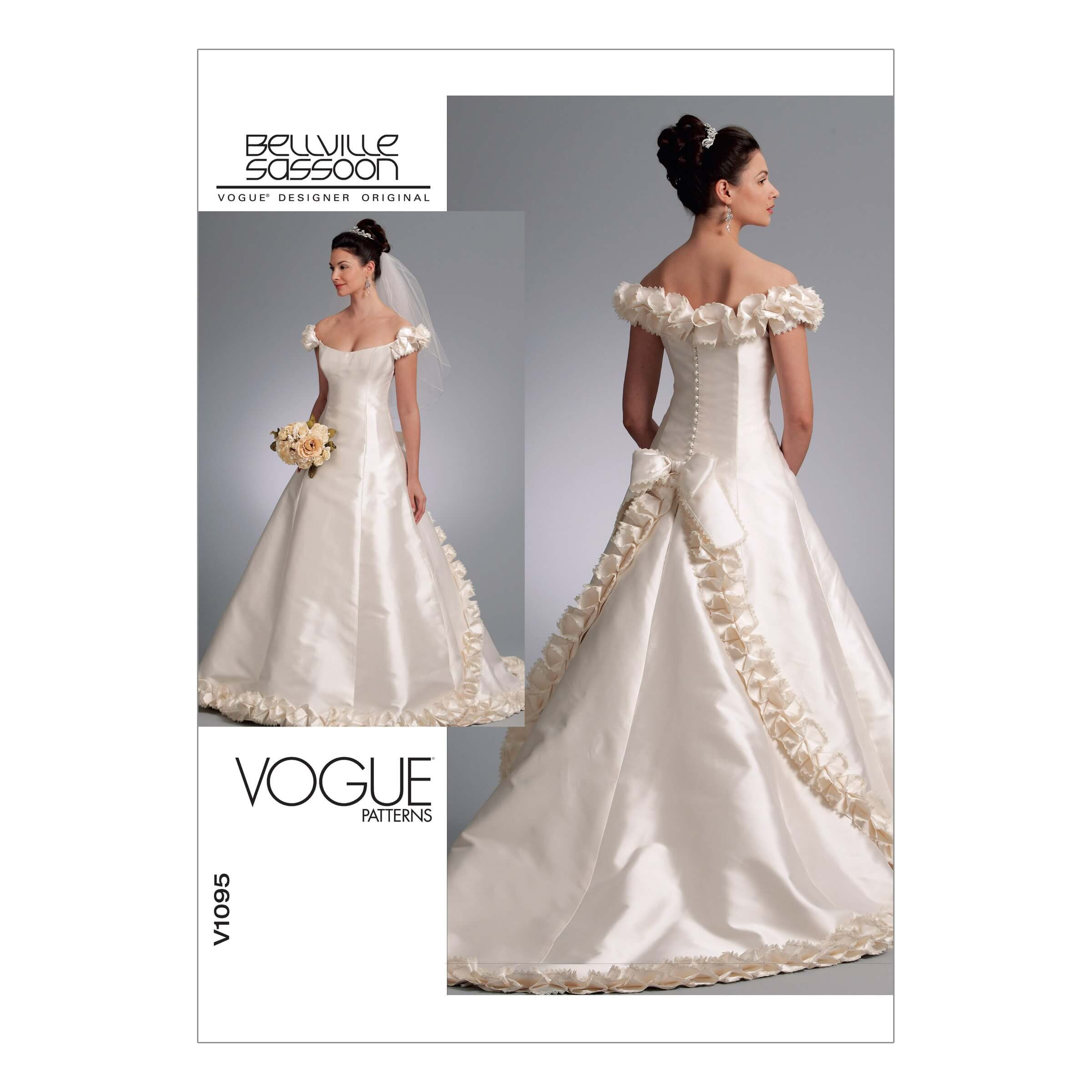 Vogue Sewing Pattern V1095 Women's Special Occasion Wedding Dress Gown