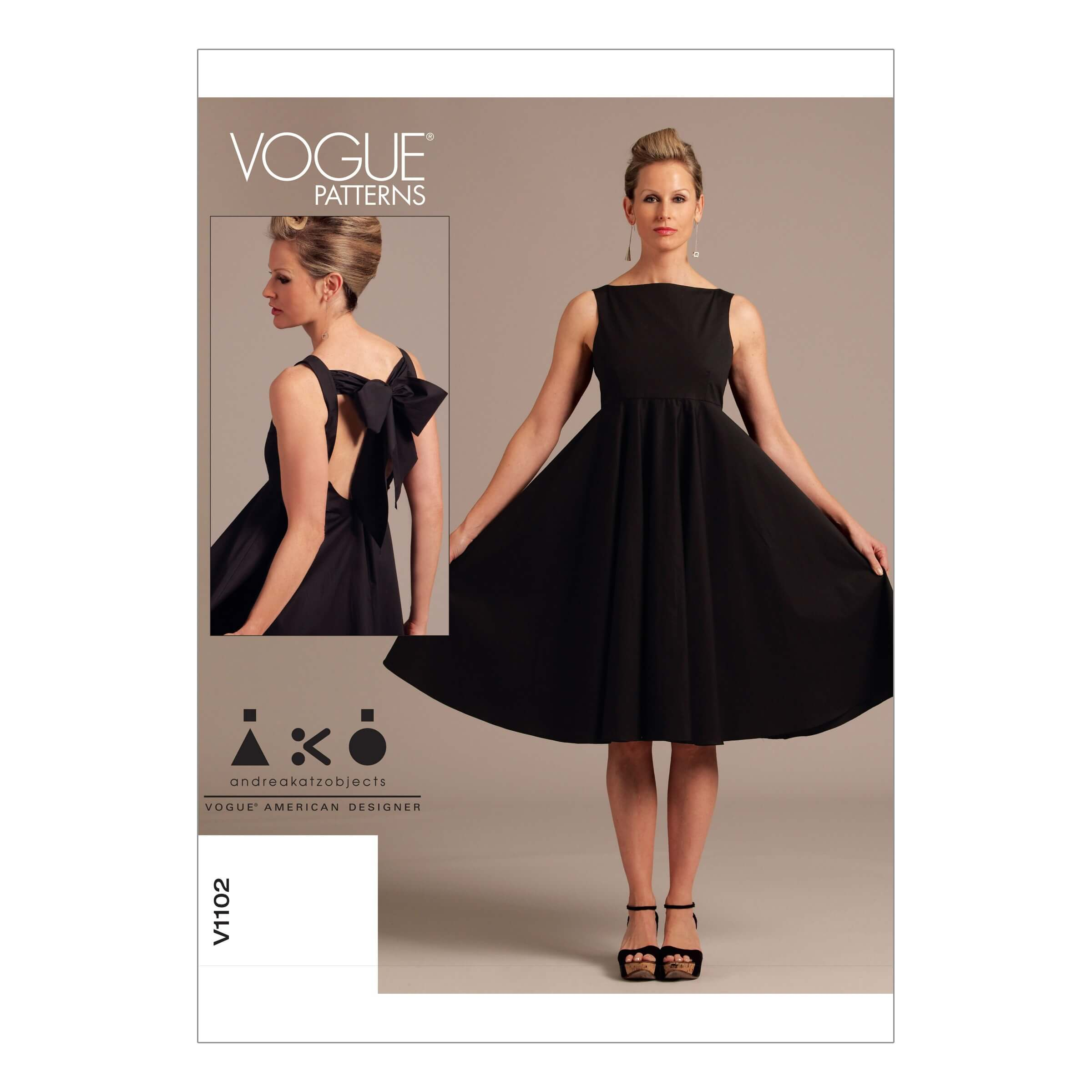 Vogue Sewing Pattern V1102 Women's High Waistline Occasion Dress
