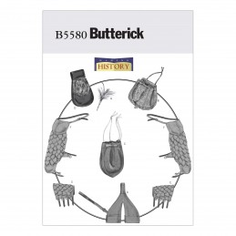 Butterick Sewing Pattern 5580 Historical Bags Pouches Fantasy Cosplay Costume