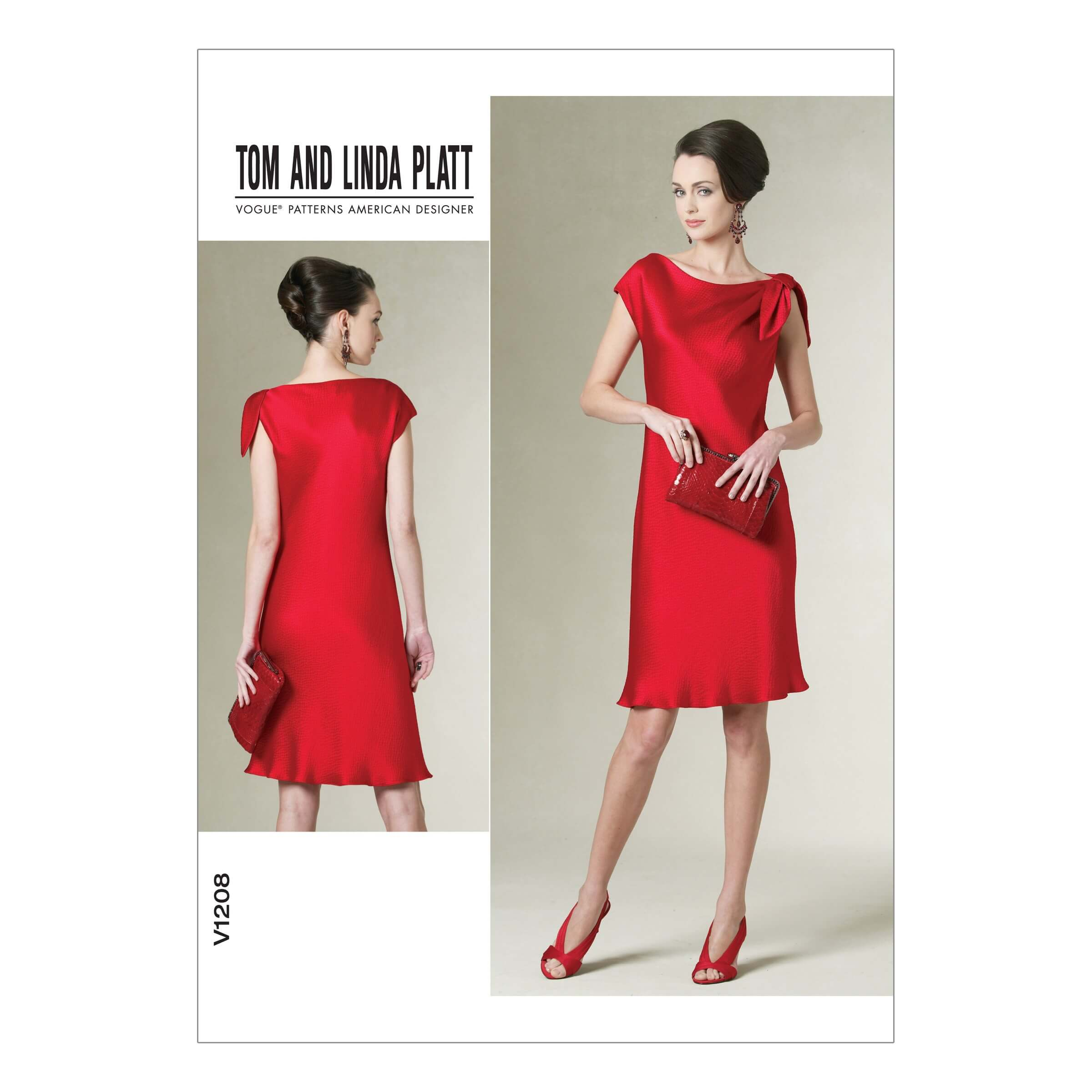 Vogue Sewing Pattern V1208 Women's Bias Cut Drop Shoulder Dress