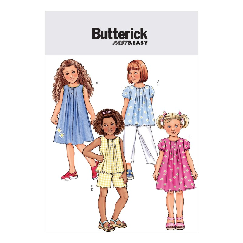 Butterick Sewing Pattern 4176 Childrens Top Dress Shorts & Trousers