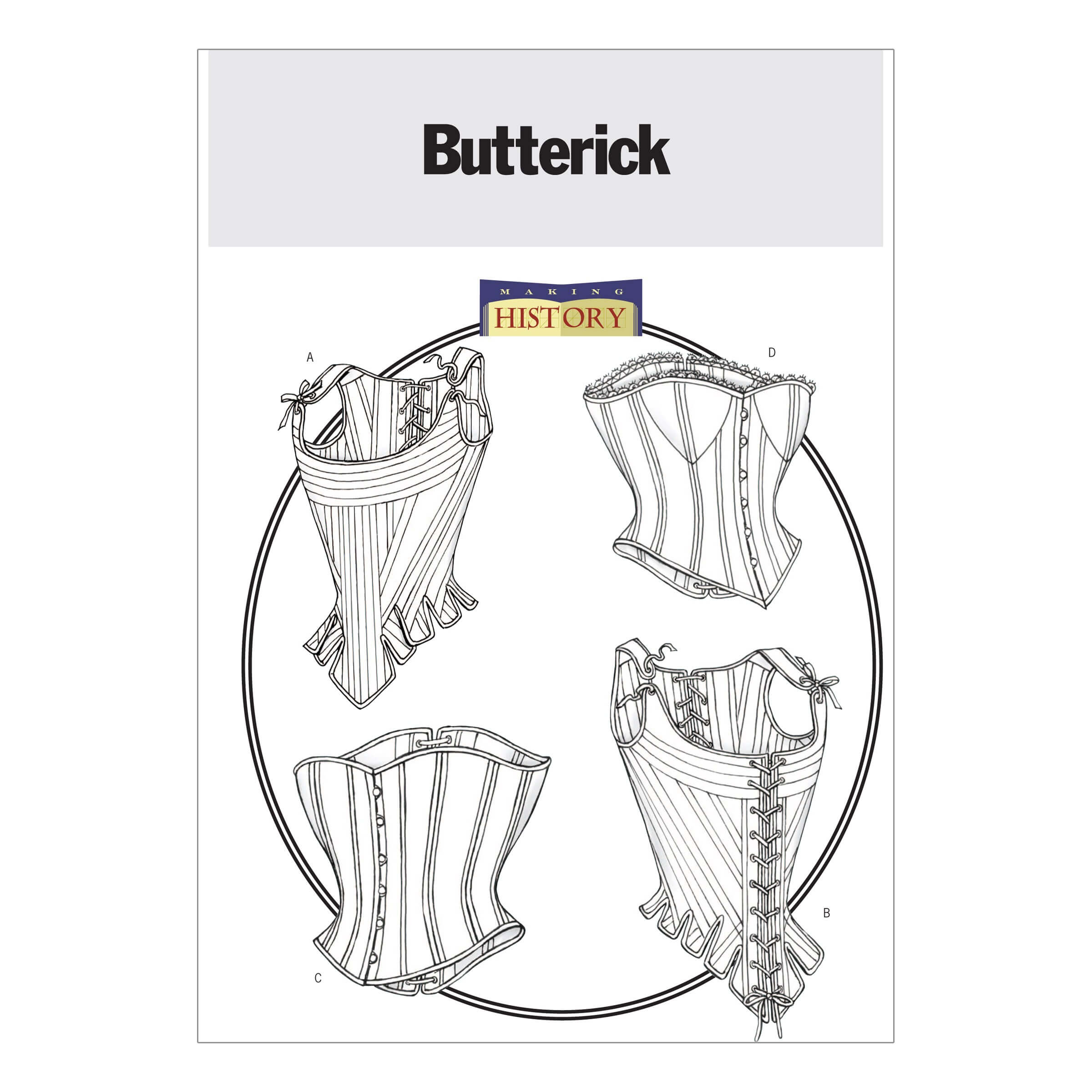 Butterick Sewing Pattern 4254 Misses' Historical Stays & Corsets Costume Cosplay