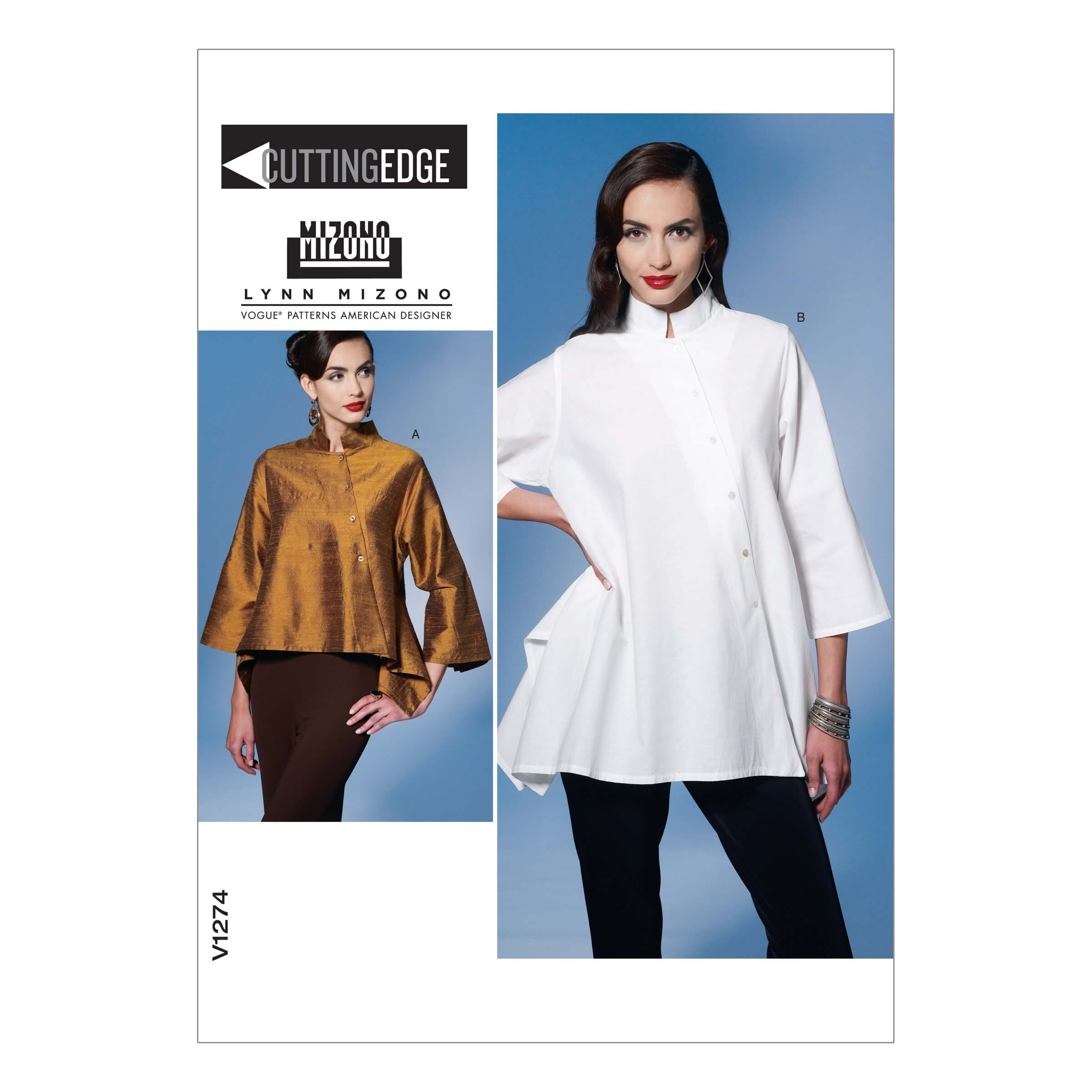 Vogue Sewing Pattern V1274 Women's Asymmetric Top Shirt Blouse
