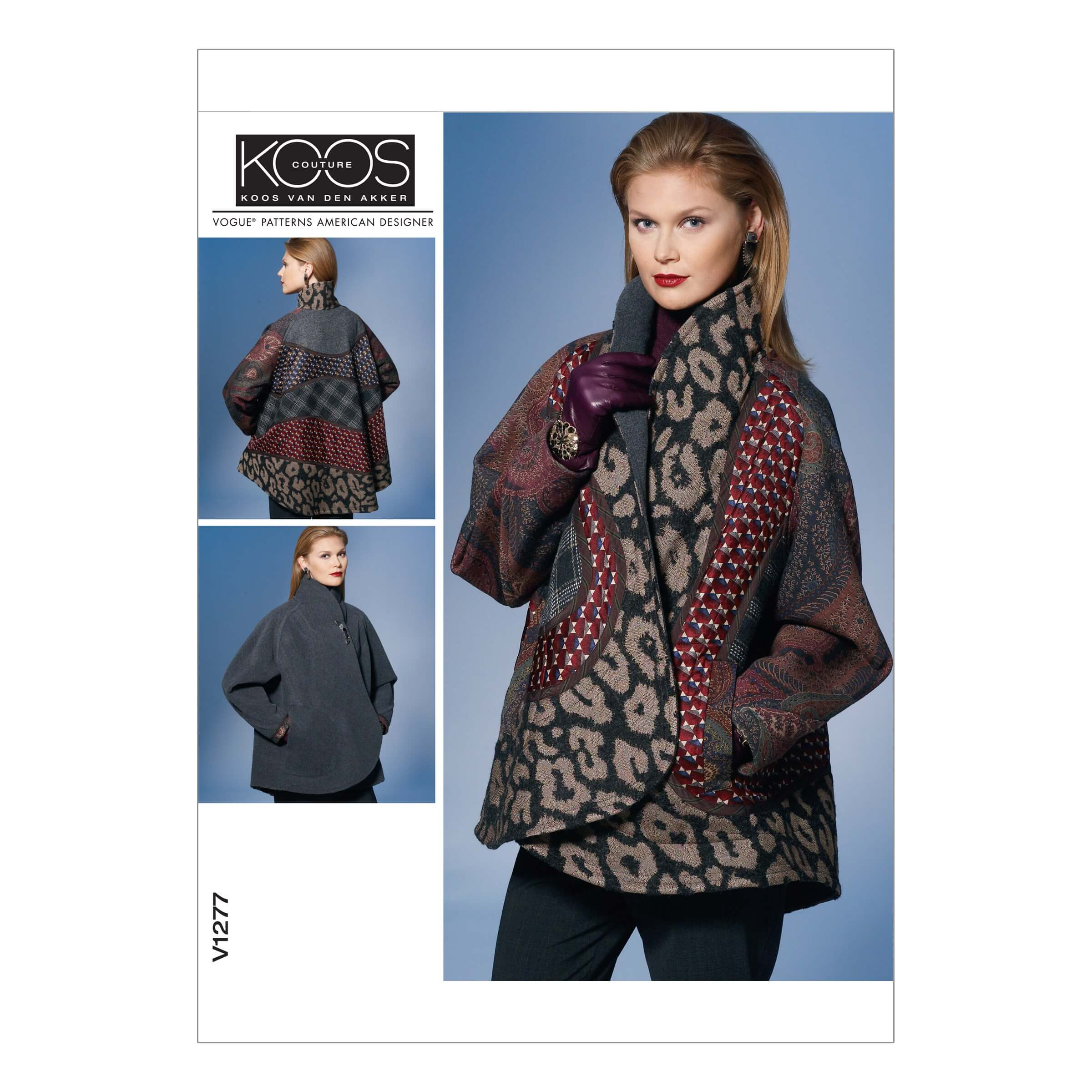 Vogue Sewing Pattern V1277 Women's Loose Fit Reversible Wrap Jacket