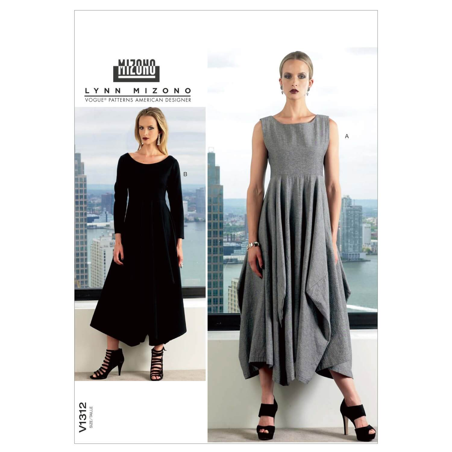 Vogue Sewing Pattern V1312 Women's Pullover Dress Feature Seamed Skirt