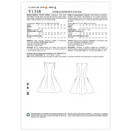 Vogue Sewing Pattern V1348 Women's Fitted Dress with Flared Pleat Skirt