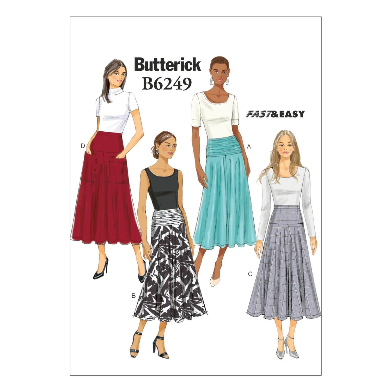 Butterick Sewing Pattern 6249 Misses' Long Summer Skirt