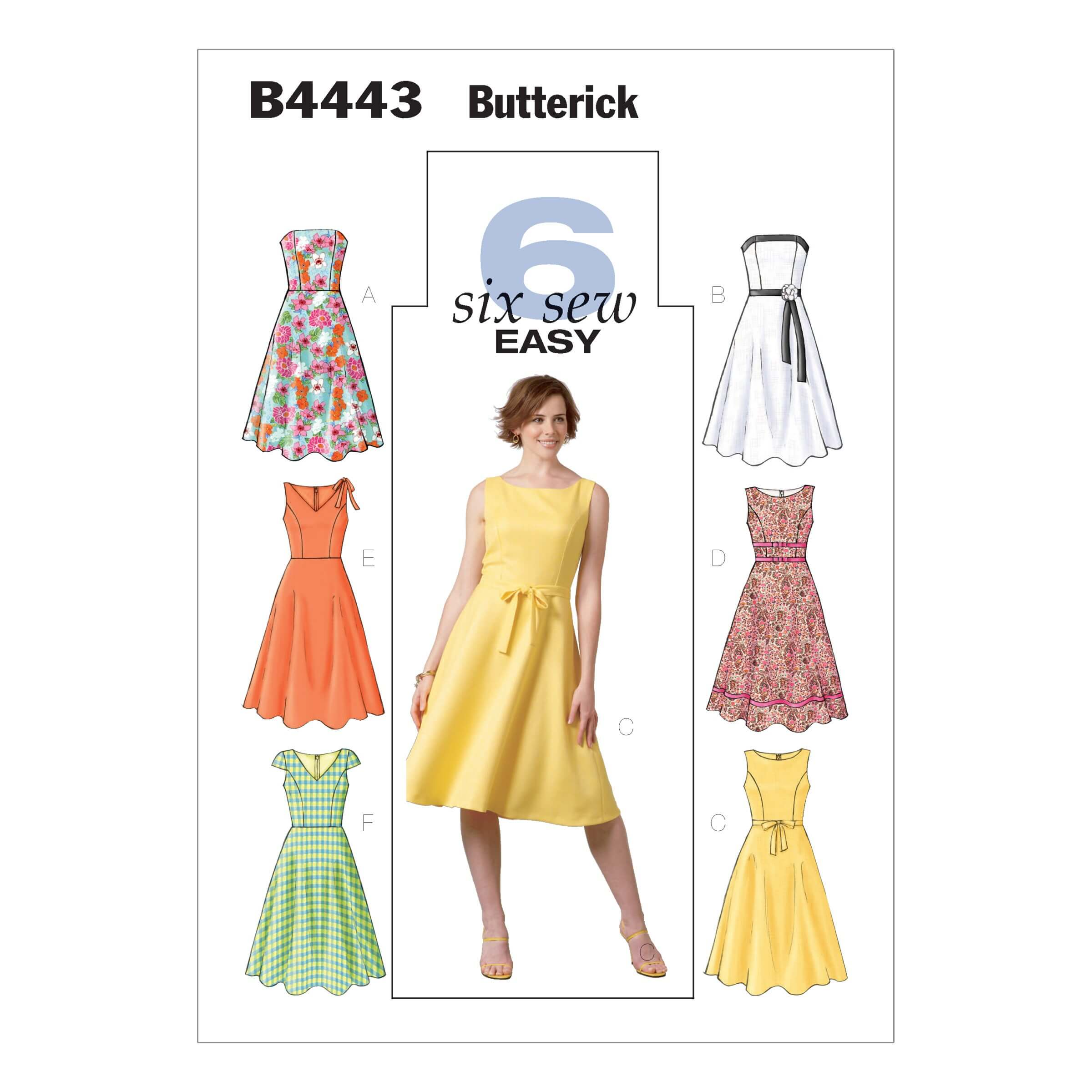Butterick Sewing Pattern 4443 Misses' Petite Dress