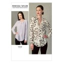 Vogue Sewing Pattern V1412 Women's Loose Fit Shirt Top Blouses