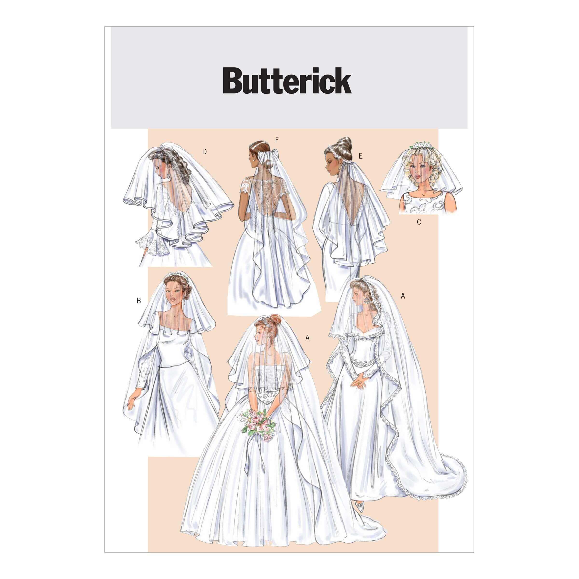 Butterick Sewing Pattern 4487 Bridal Veils