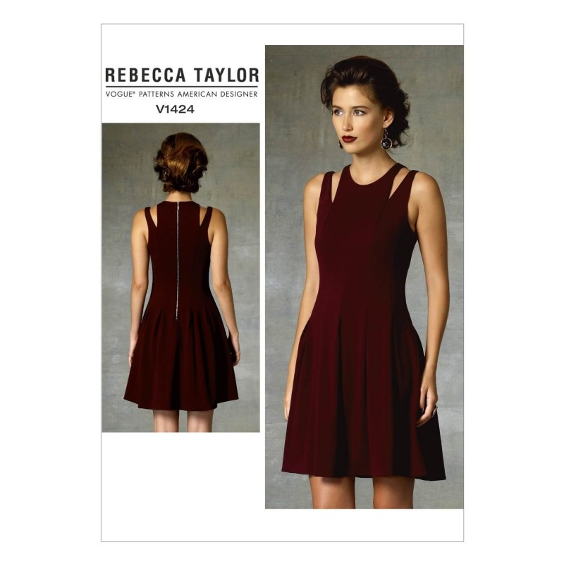 Vogue Sewing Pattern V1424 Women's Fit and Flare Dress with Shoulder Detail