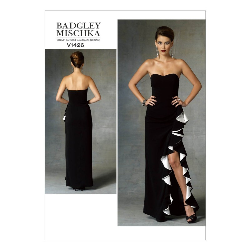 Vogue Sewing Pattern V1426 Women's Special Occasion Ruffle Feature Dress