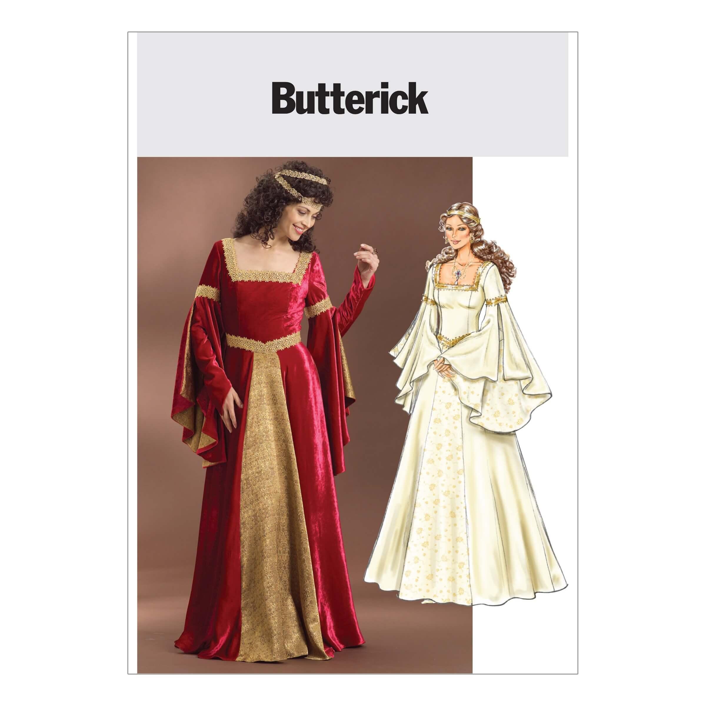 Butterick Sewing Pattern 4571Women's Historical Renaissance Costume