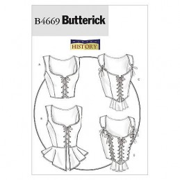 Butterick Sewing Pattern 4669 Historical Corsets Costume