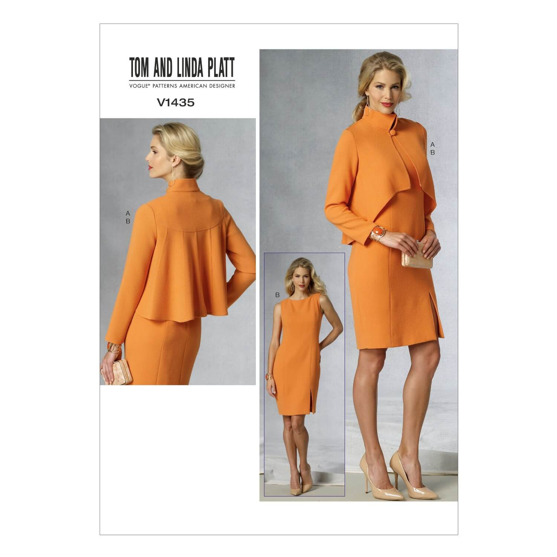 Vogue Sewing Pattern V1435 Women's Pencil Dress and Dim Hem Jacket