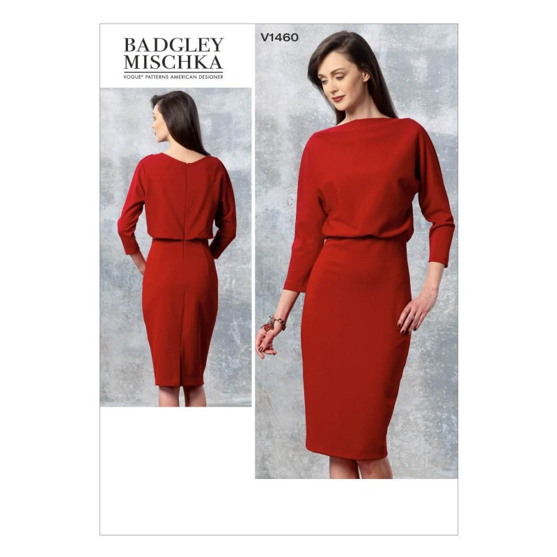 Vogue Sewing Pattern V1460 Women's Dress with Fitted Skirt and Loose Bodice