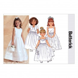 Butterick Sewing Pattern 3351 Childrens Formal Dress Special Occasion