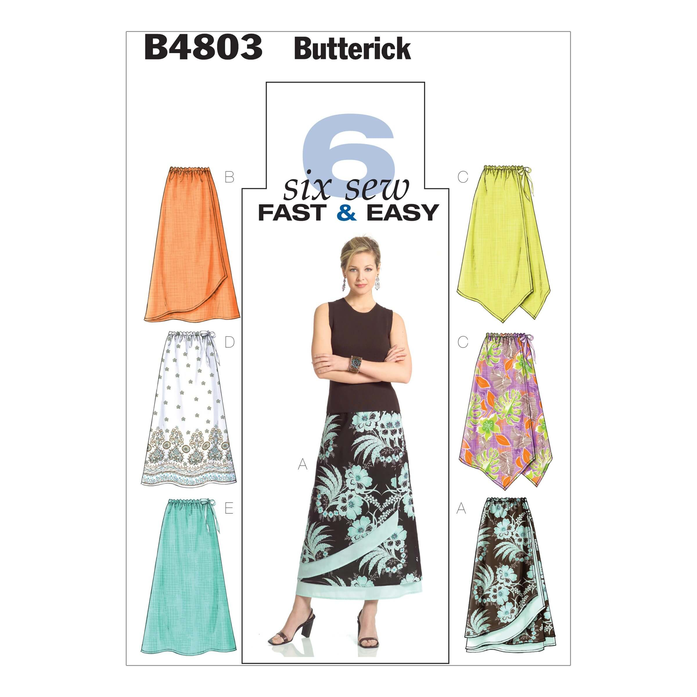 Butterick Sewing Pattern 4803 Misses' Petie skirt Elasticated Waist