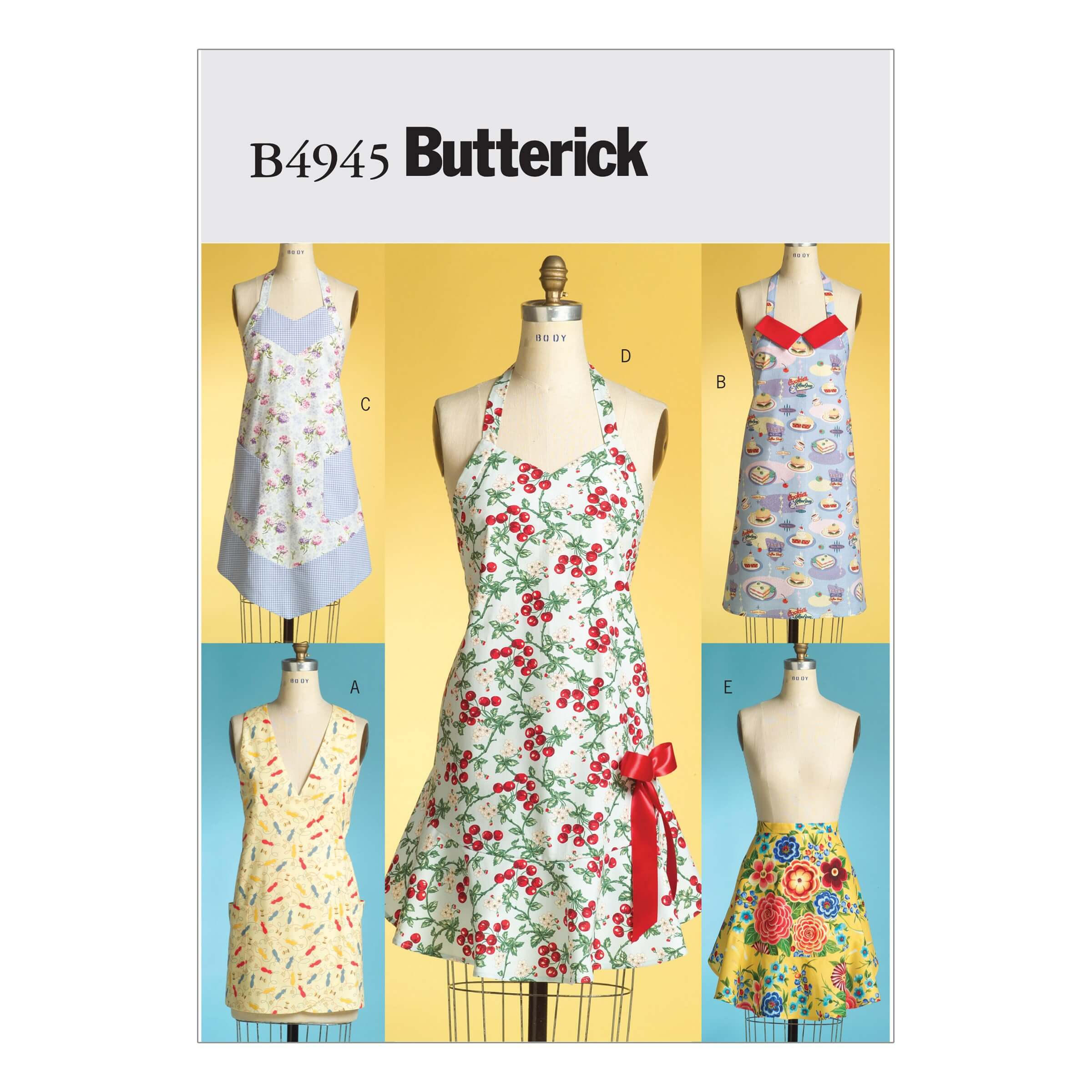 Butterick Sewing Pattern 4945 Vintage Style Aprons