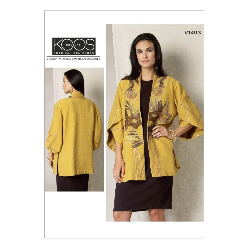Vogue Sewing Pattern V1493 Women's Kimono Jacket with Petal Sleeves