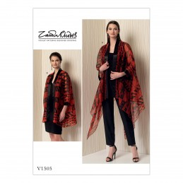 Vogue Sewing Pattern V1505 Women's Loose Fit Kimono Style Jacket Cardigan