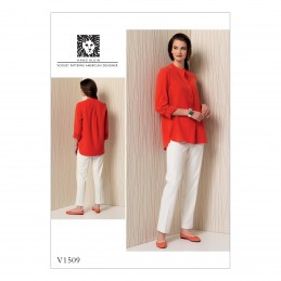 Vogue Sewing Pattern V1509 Women's Banded Tunic and Tapered Trousers