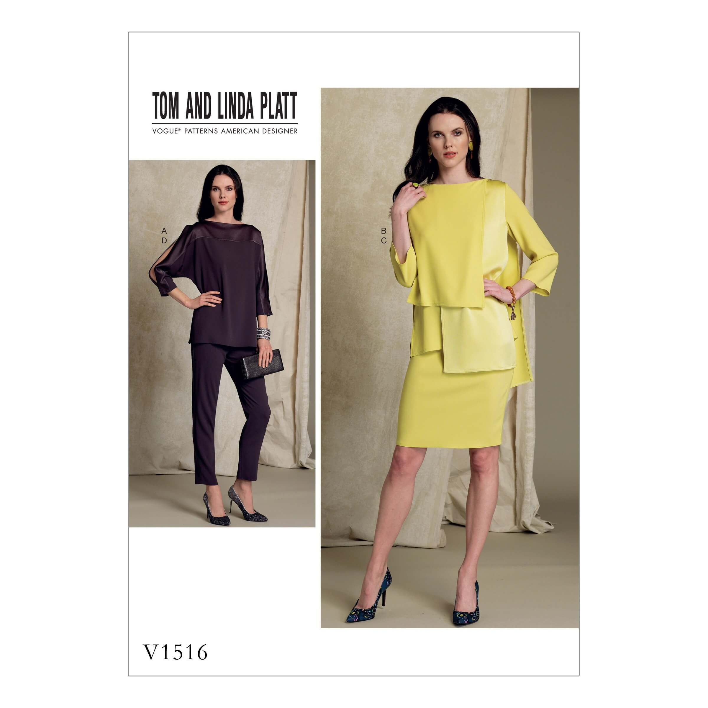 Vogue Sewing Pattern V1516 Women's Batwing or Layered Overlay Tops
