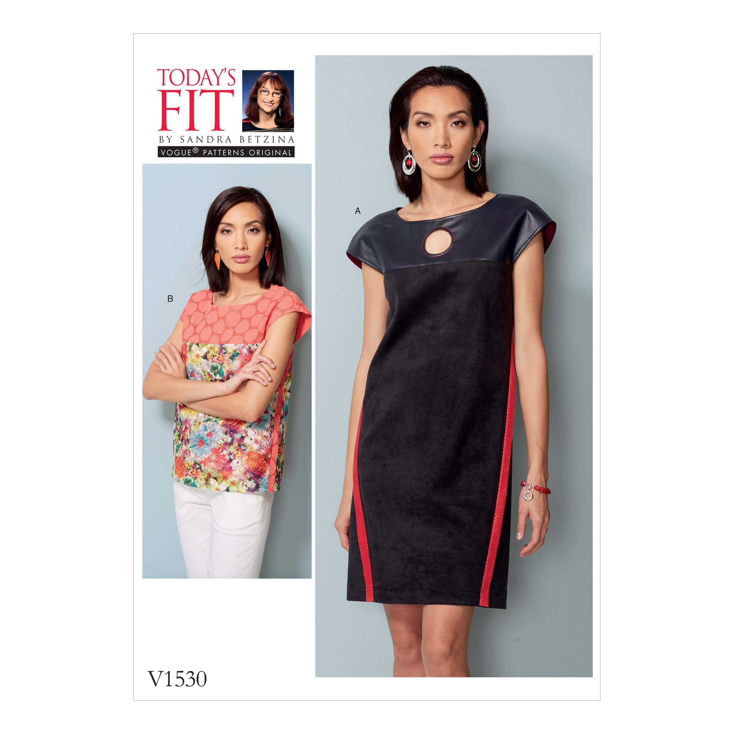 Vogue Sewing Pattern V1530 Women's Dress with Yoke and Band Details