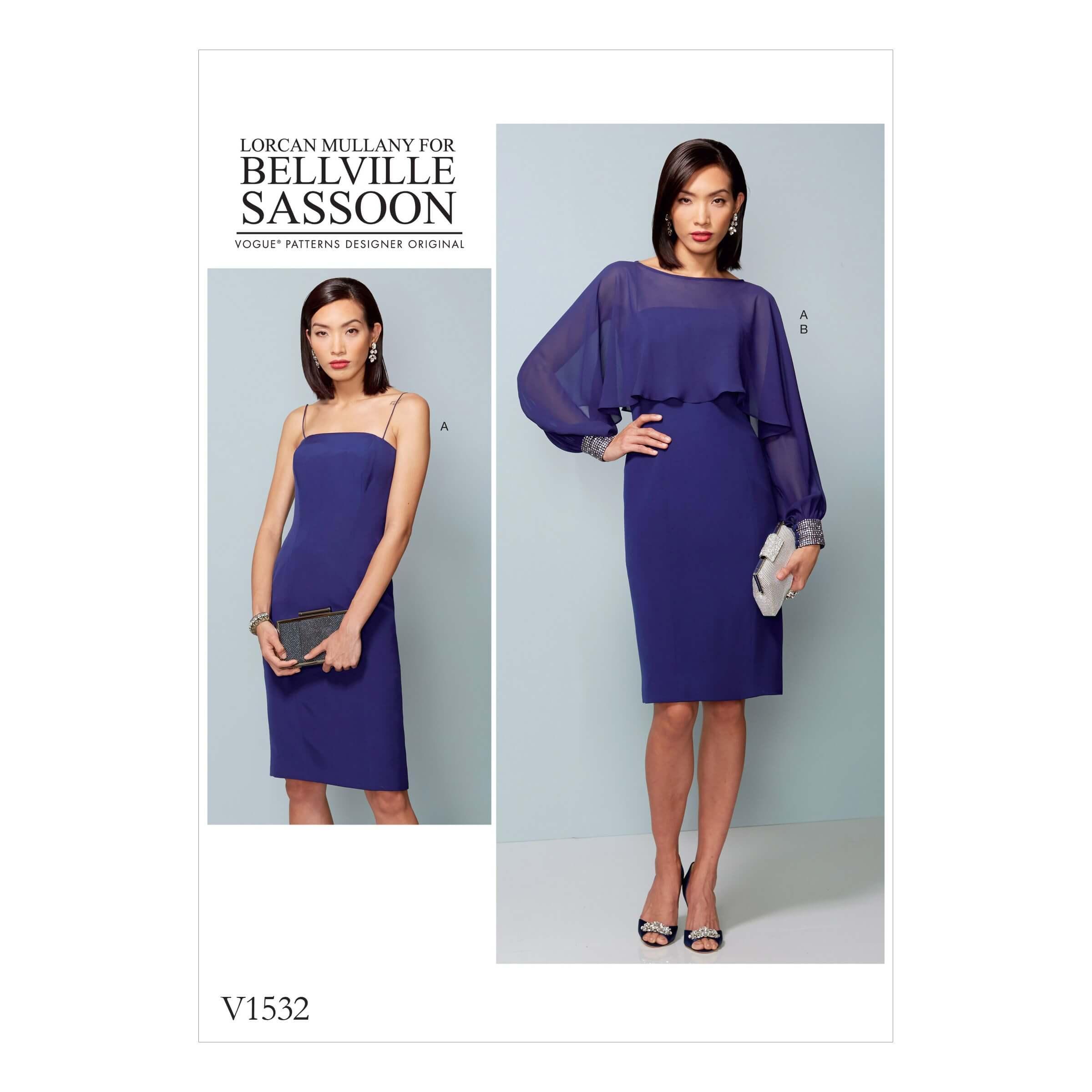 Vogue Sewing Pattern V1532 Women's Slip Dress and Embellished Cover Up