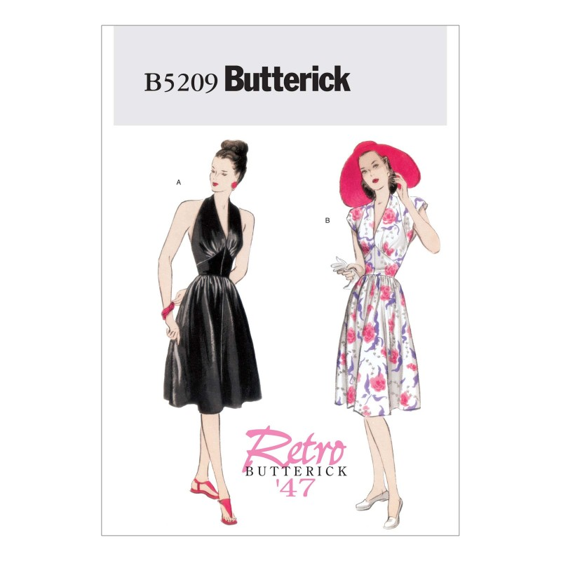 Butterick Sewing Pattern 5209 Misses' Fitted Lined Bodice Dress