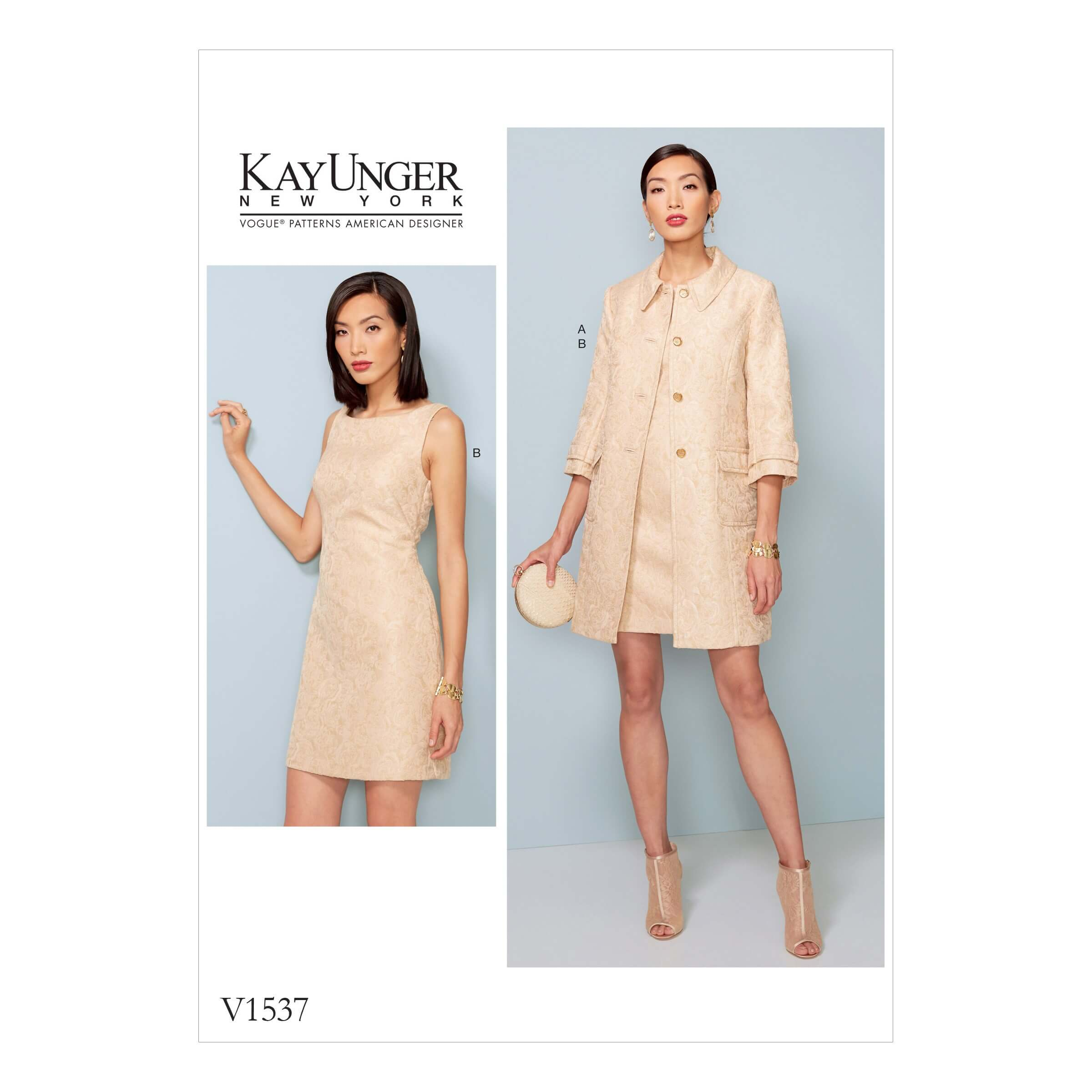 Vogue Sewing Pattern V1537 Women's Princess Seam Jacket and V Back Dress