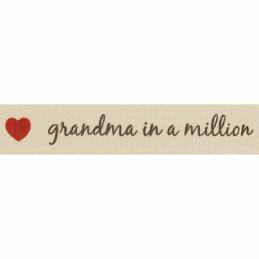 15mm Dad In A Million Berisfords Ribbon Mum, Grandad, Grandma