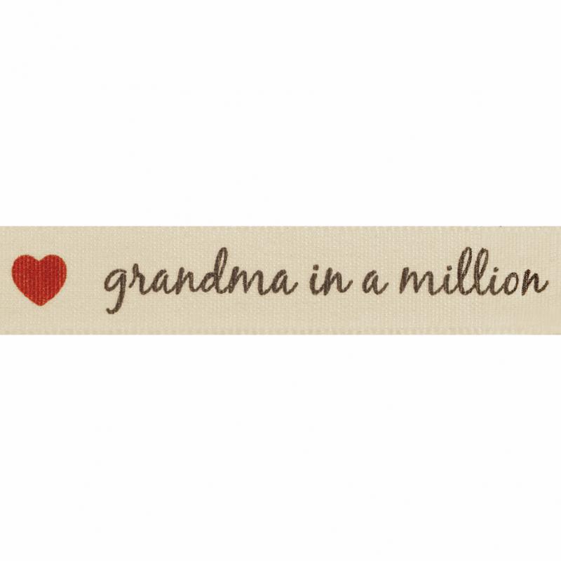 15mm Grandma In A Million Berisford Ribbon